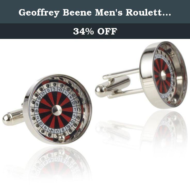Geoffrey Beene Men's Roulette Wheel Cufflinks, Silver, One Size. Geoffrey beene polished rhodium roulette wheel cufflinks.