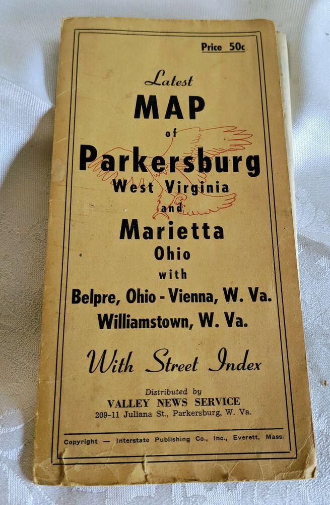 VINTAGEMAP OF PARKERSBURGW. VIRGINIA & MARIETTABELPRE
