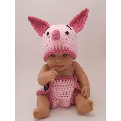 omgsh so cute:  Teddy Bears, Halloween Costumes, Baby Piglets, So Cute, Crochet, Pigs, Diapers Covers, Kid, Socute