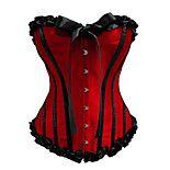 Корсет Панк Косплей Платья Лолиты Красный / Черный Пэчворк Для Атлас