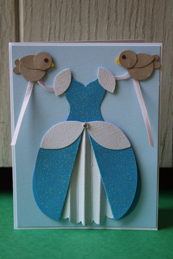 Cinderella Handmade Card by HootandTootsLoot on Etsy, $6.50