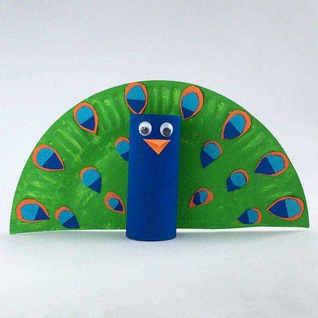 Toilet roll Peacock #kidscrafts #kidsactivities