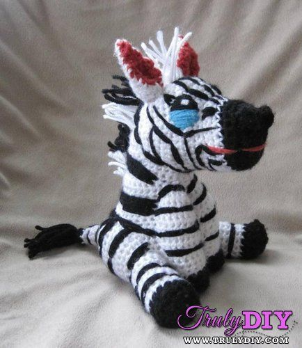 Amigurumi Zebra Pattern : 1000+ images about Amigurumi - zebre on Pinterest ...