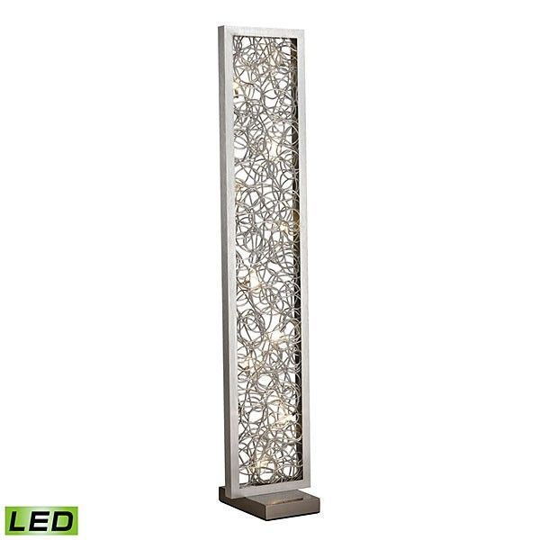 24 best table lamps floor lamps images on pinterest floor lamps 60 led abstract metal floor lamp finished in brushed silver aloadofball Choice Image