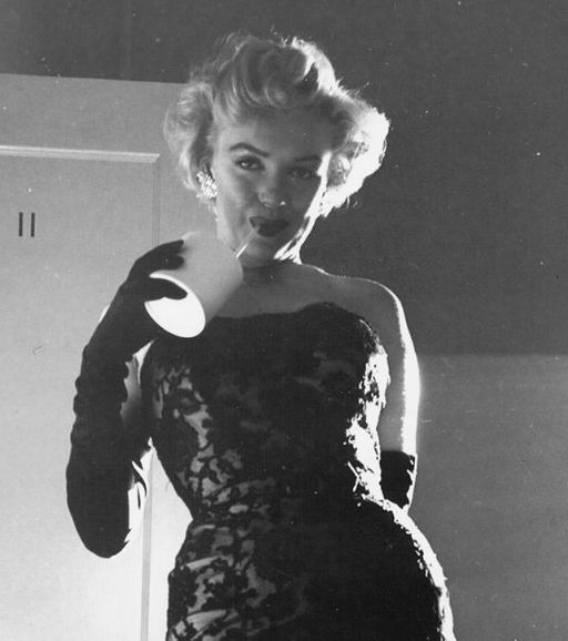 Marilyn Monroe at the premiere of Don't Bother to Knock, 1952.