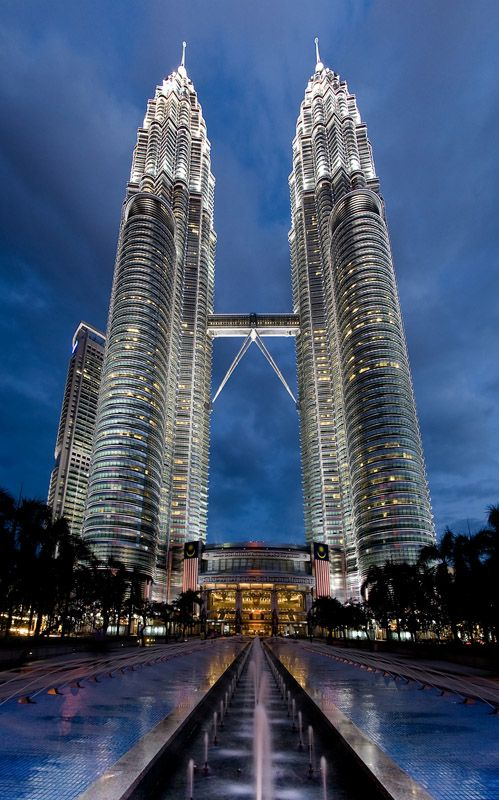 Petronas Twin Towers--Malaysia (These were the tallest buildings from 2001 to 2004.)