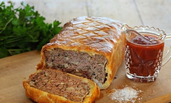 Barossa Tomato Meatloaf Baked In Pastry, This looks like an amazing rustic winter dish from the fabulous Maggie Beer