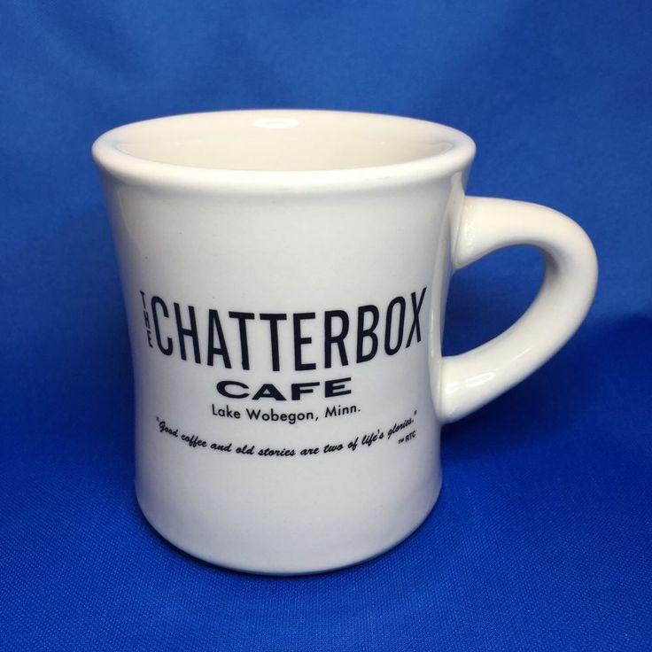 Chatterbox Cafe Lake Wobegon Minnesota Garrison Keillor Mug Heavy Restaurantware | eBay