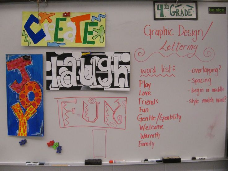 Jamestown Elementary Art Blog: Reporting... 4th Grade Graphic Design Lettering