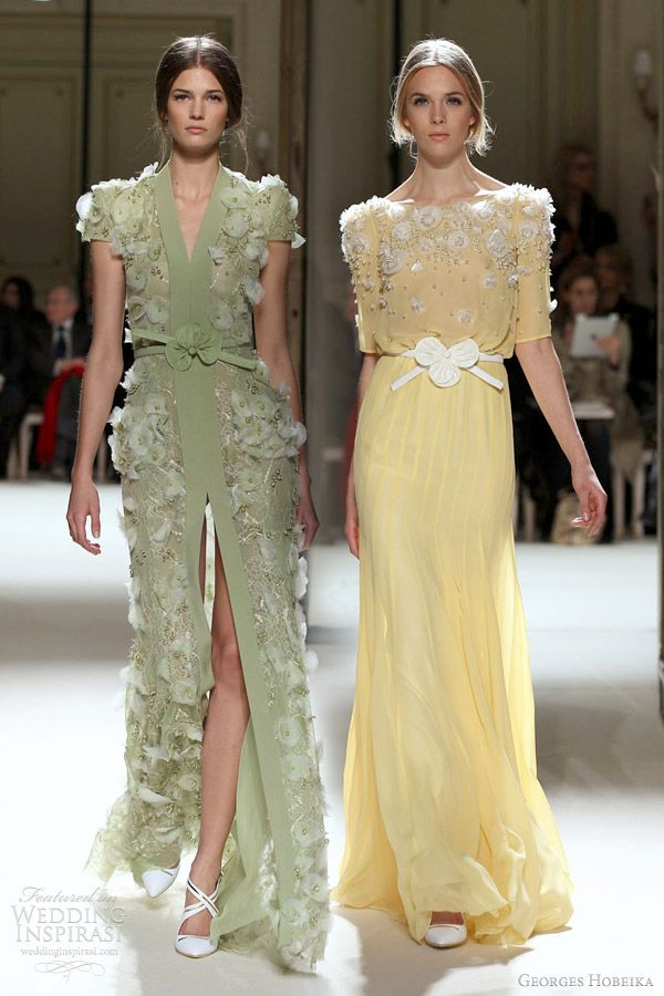 georges hobeika couture - I like the yellow one:)