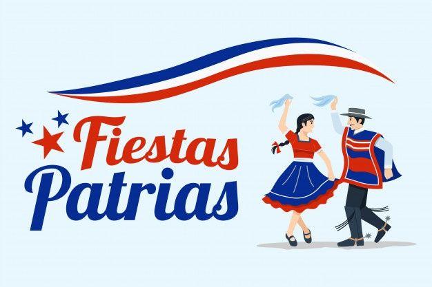 Fiestas patrias - celebración del día de... | Premium Vector #Freepik  #vector #chica #dibu… | Traje tipico de chile, Felices fiestas patrias chile,  Bandera de chile