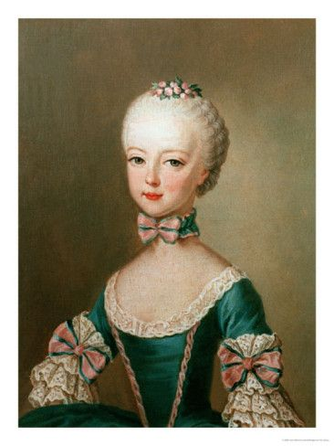 Marie Antoinette, Daughter of Emperor Francis I and Maria Theresa of Austria by Jean Etienne Liotard