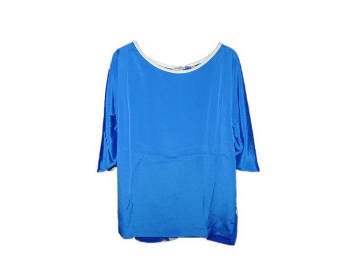 Büzgüsüz Kurukafalı Mavi Tişört