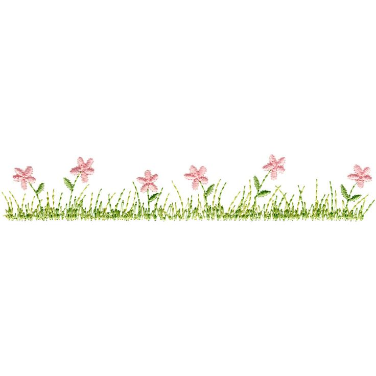 Grass Amp Flowers Border Embroidery Borders Corners