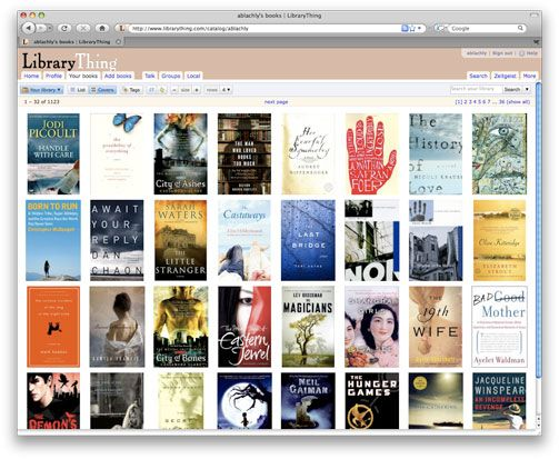 LibraryThing-- website to organize and categorize books you own