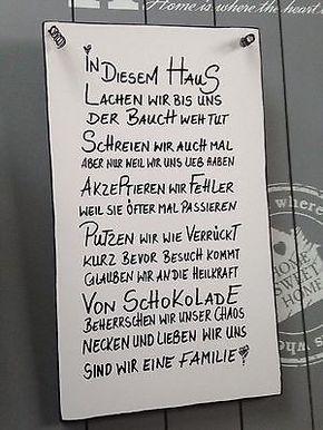 HAUSWandschild Deko Shabby Vintage Tafel Türschild in Möbel & Wohnen, Dekoration, Schilder & Tafeln | eBay!