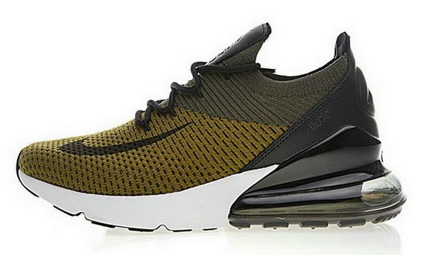 cheaper 25700 0567f Nike Air Max 270 Olive Green Black White Ah8050 004 Low Price Sneaker