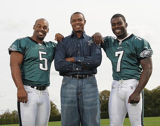 Eagles Quarterbacks Donovan McNabb, Randall Cunningham, Michael Vick