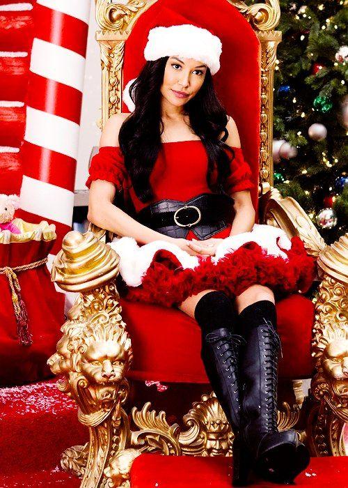 Naya Rivera - Santana Lopez - Mrs. Claus