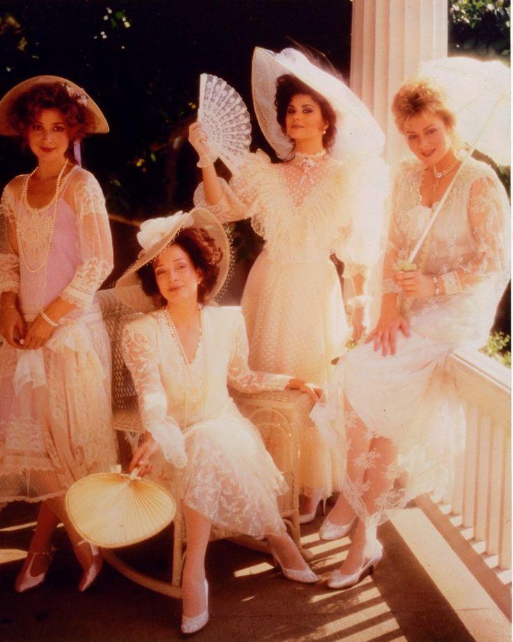 """Designing Women"" cast - Annie Potts, Dixie Carter, Delta Burke and Jean Smart"