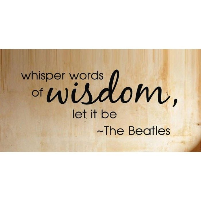 Lyric let it be the beatles lyrics : 29 best Quotes images on Pinterest | Song lyrics, The beatles and ...