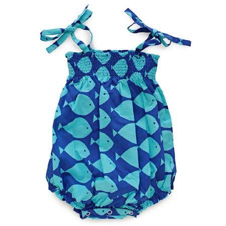 kit + lili (キットリリ) ベビーサマーロンパース / coco sunsuit / turquoise fish | アクティブなベビー&キッズのためのオンラインストアBURGER SHOP