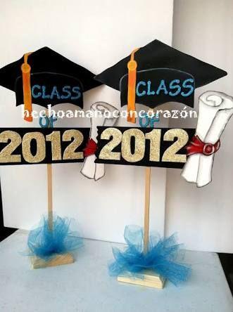 M s de 1000 ideas sobre centros de mesa graduacion en for Decoracion de licenciatura