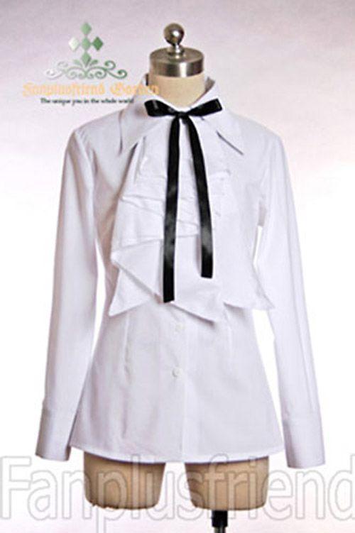 Chemise blanche avec jabot à multi couches élégant aristocrate