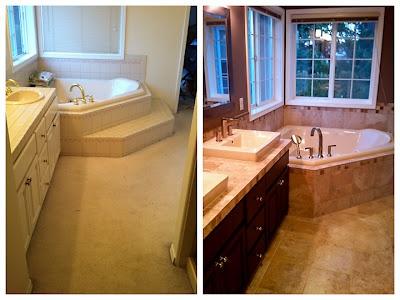 home remodel - carpet to tile