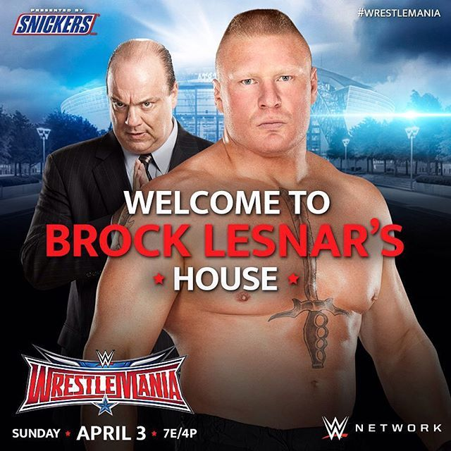 Will #DeanAmbrose step into #BrockLesnar's house in #SuplexCity? Don't miss #WrestleMania at 7e/4p on #WWENetwork!