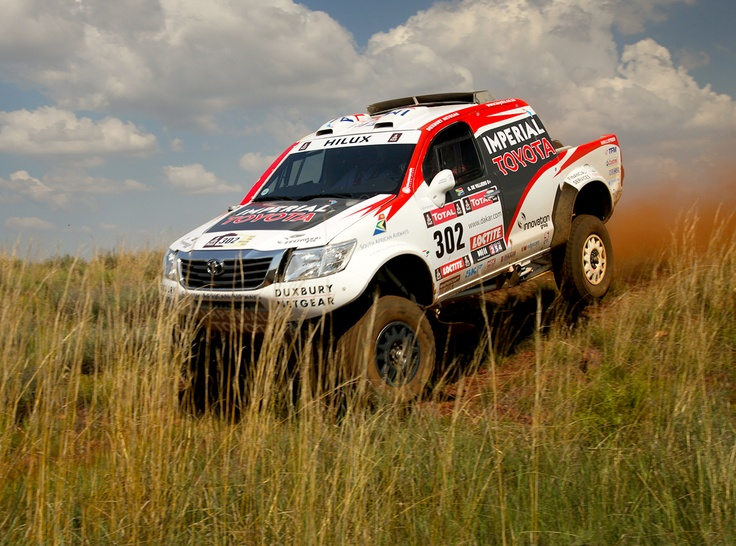 #Dakar2013 Imperial Toyota Hilux piloted by 2009 Dakar winners Giniel de Villiers and German co-driver Dirk von Zitzewitz, who finished third in the 2012 event, and South African off road champions Duncan Vos and Rob Howie, who finished 10th in 2012.