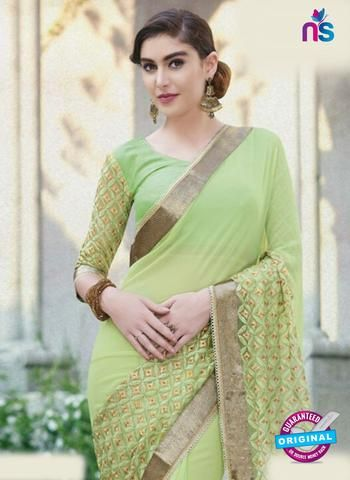AZ 5123 Green Georgette Party Wear Saree