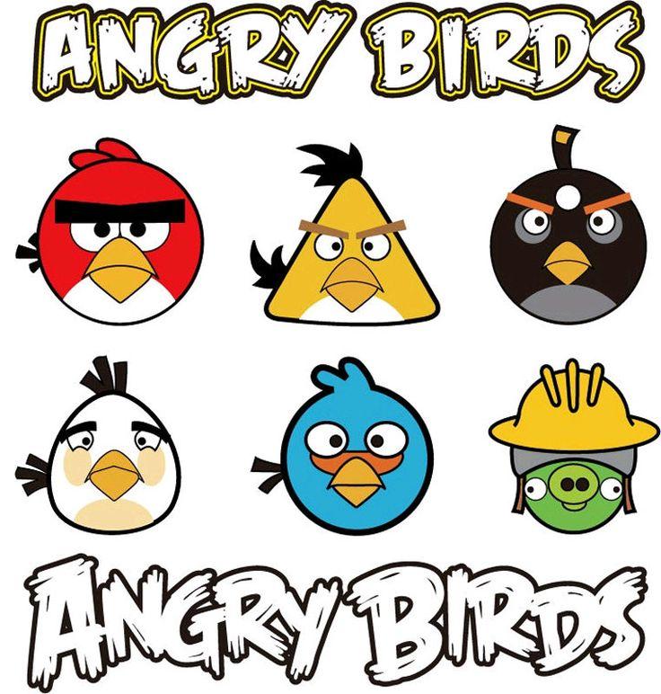 Imprimir Dibujos: Dibujos de Personajes de Angry Birds para Imprimir