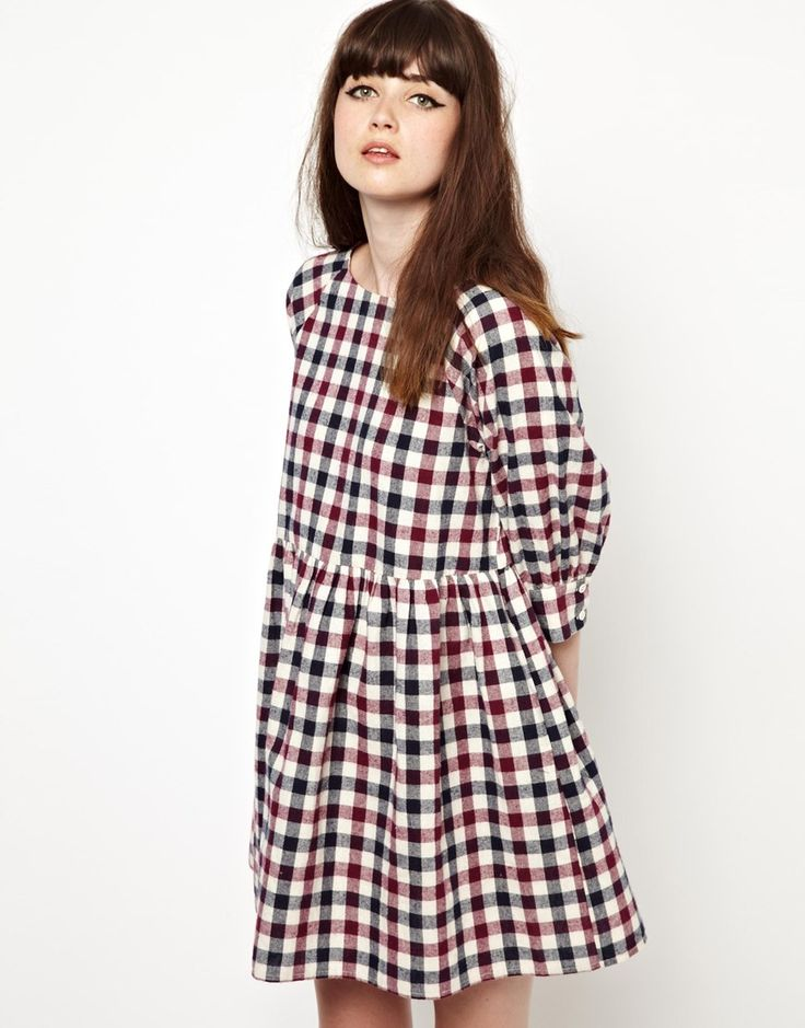 The WhitePepper | The WhitePepper Smock Dress in Check at ASOS