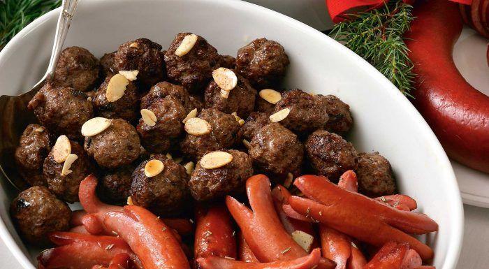 Julköttbullar med kanel och mandel