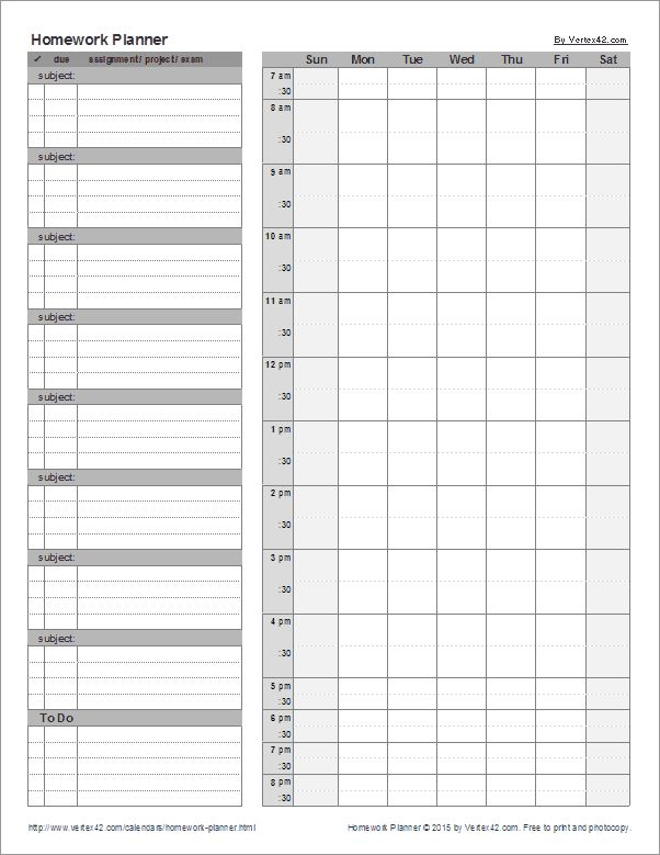 ideas about Homework Planner on Pinterest   Homework Planner Printable  Student Planner and College Planner Pinterest