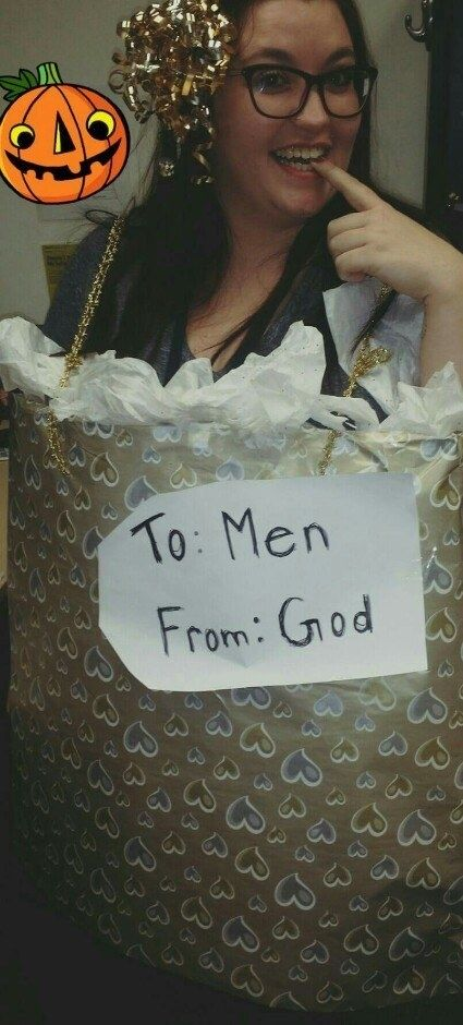 God's gift to men: | 19 Hilariously Clever Halloween Costumes