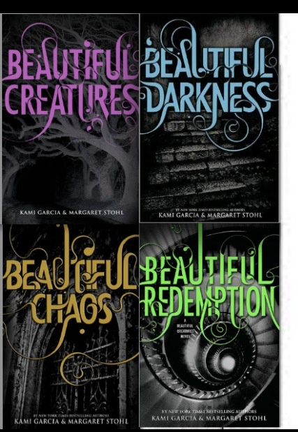 """""""Beautiful Creatures"""" series (The Caster Chronicles).  The popular paranormal romance series include 4 books, that tell the story of Ethan and Lena, two teens who fall in love, in a world of supernatural madness!  A great series for fans of the paranormal."""