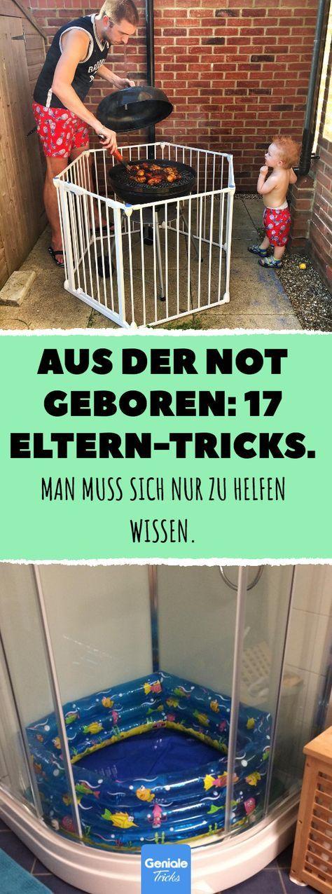 Aus der Not geboren: 17 Eltern-Tricks. Man muss sich nur zu helfen wissen. Kinde…