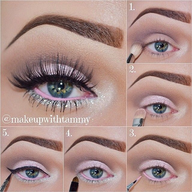 Pearly Pink Princess  Pictorial •Step 1. Prime your lids. Apply Champagne Truffle from the @Too Faced Cosmetics Chocolate Bar palette as your highlight and in the tear duct. Using a fluffy brush (Mac 224) apply @eyekandycosmetics Sugar Baby (Sweet