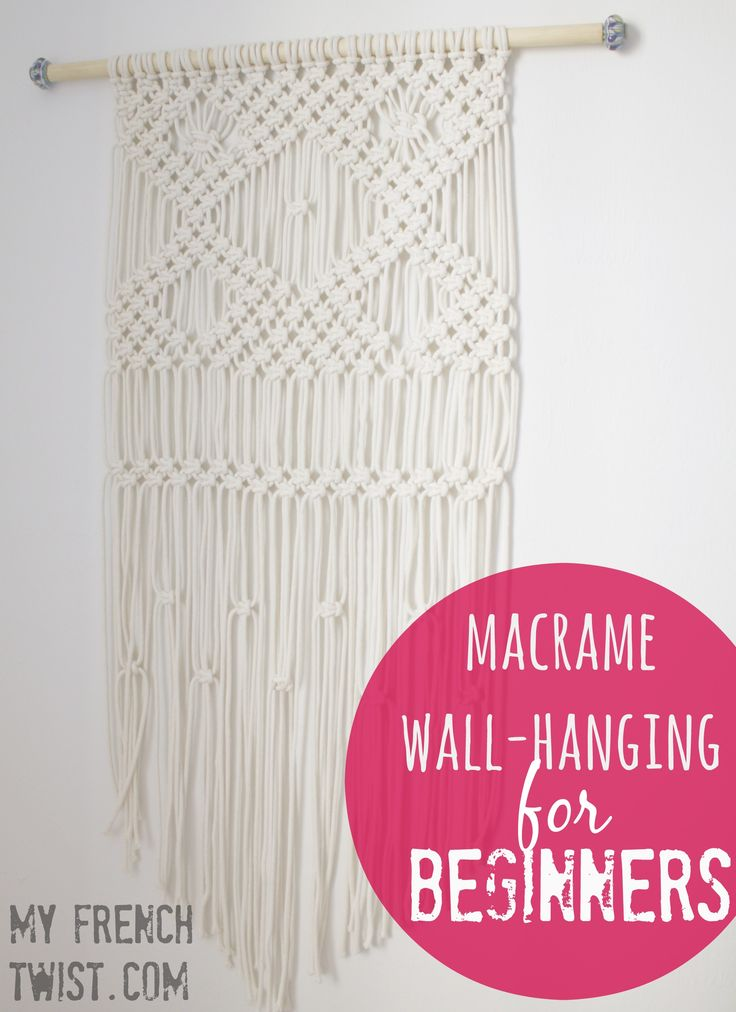A macramé wall-hanging tutorial for beginners! @myfrenctwist.com. #macrameWallhanging