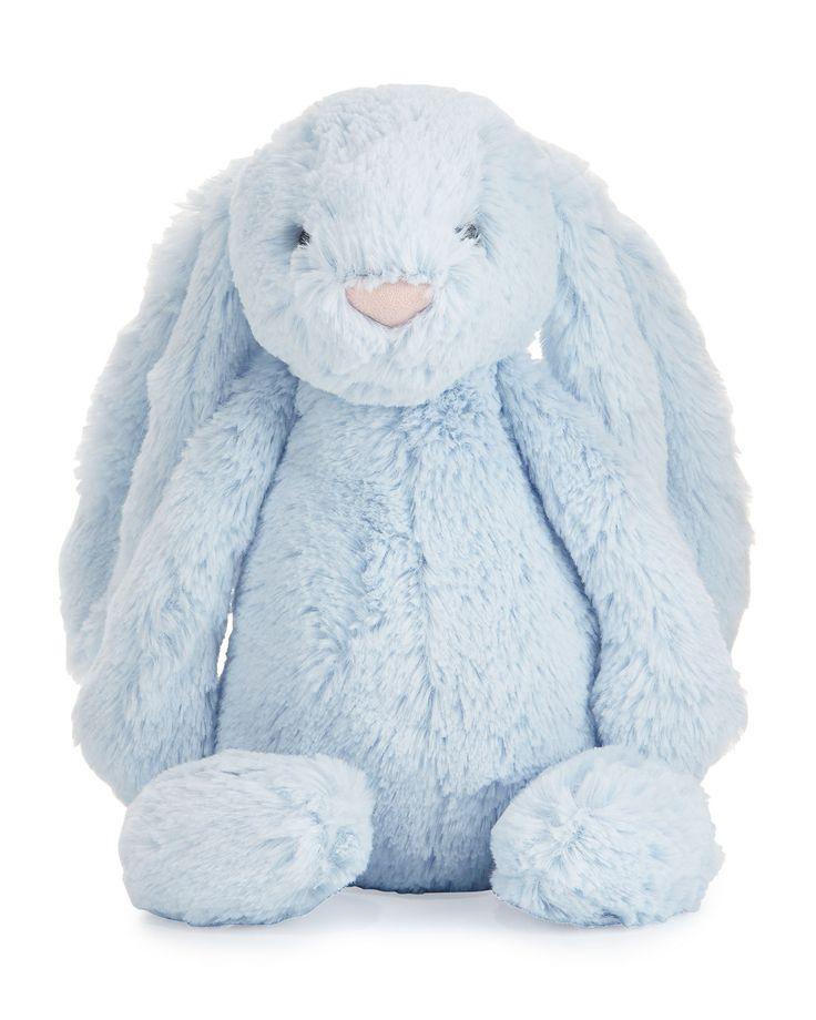 Jellycat Plush Bashful Bunny Chime Stuffed Animal Blue