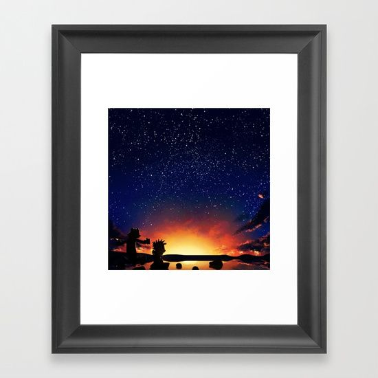 Calvin And Hobbes With Starry Night - $37