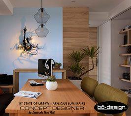 luminaire design concept designer avec ombre portée au mur - modele USA statue de la liberté new york