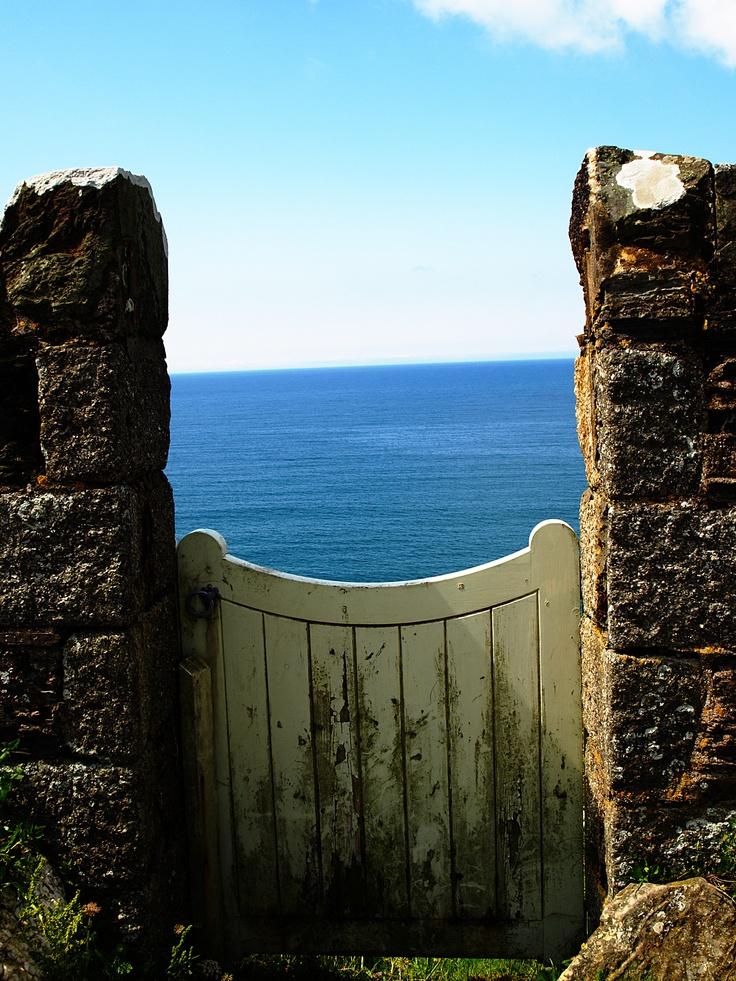 Over A Cornish Garden gate