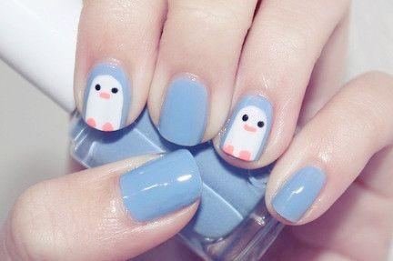 penguin: Penguins Nails, Nails Art, Cute Nails, Nailart, Nails Design, Penguin Nails, Naildesign, Nails Ideas, Nail Art