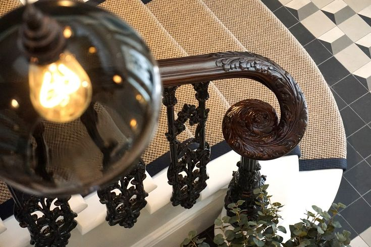Best Staircase Handrail Wreath Section Covered In An Ornate 400 x 300