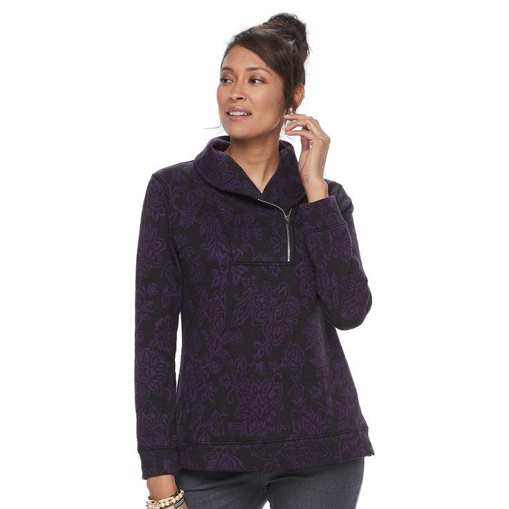 Women's Croft & Barrow® Shawl Collar Sweater, Black