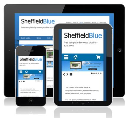 Responsive Sheffield Blue Responsive Ecommerce Web Design