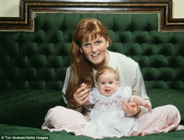 Baby Beatrice is seven months old and mum Fergie looks happy in this March 1989 portrait by her husband. For now it's happy and contented families.